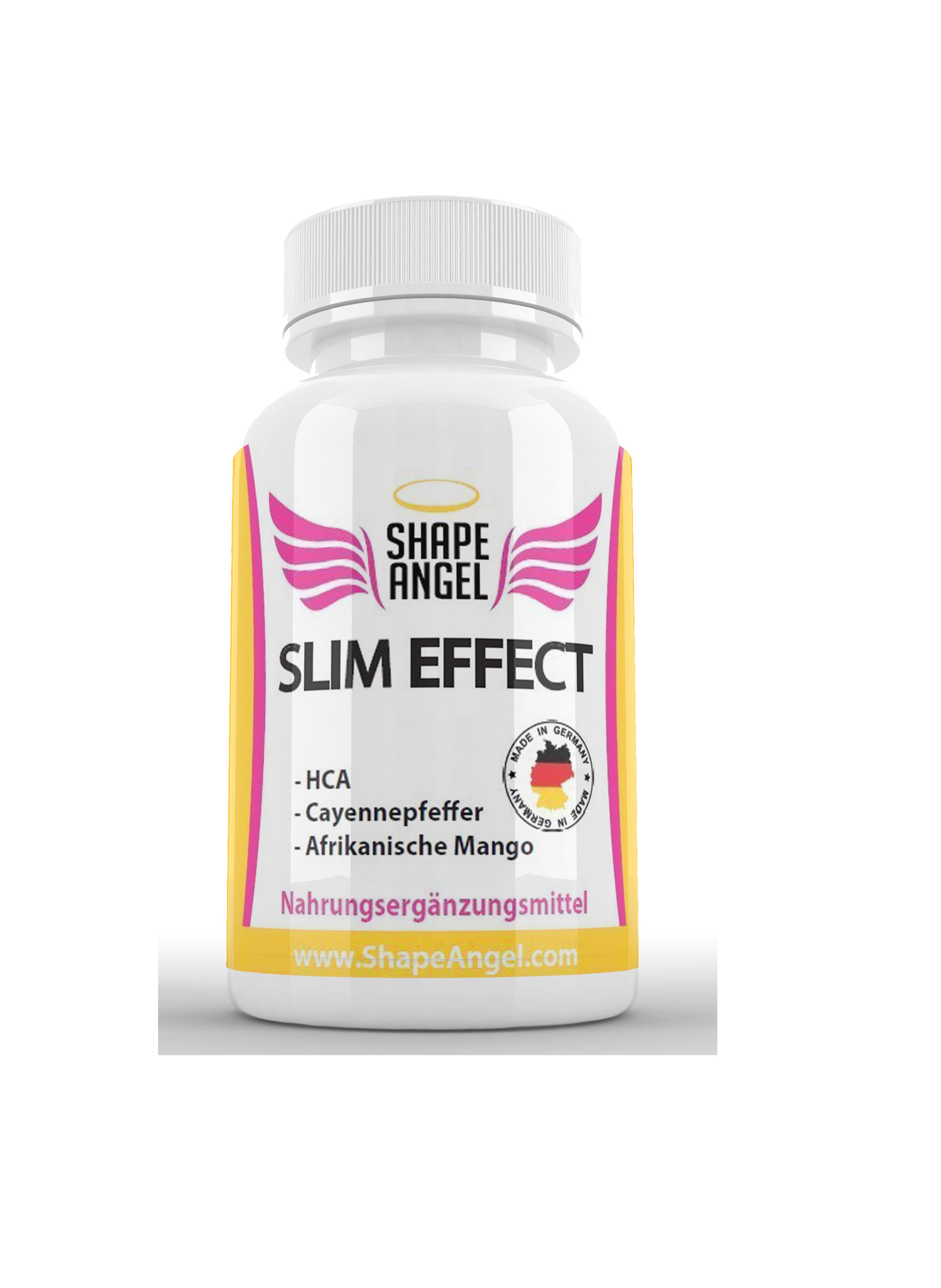 Slim Effect - Appetithemmer und Fatburner - Speziell für Frauen - BURNER - Appetit Control - HCA - Garcinia Cambogia - Afrikanische Mango - Cayennepfeffer - Ceylon Zimt - Ingwer - Guarana - Grüner Tee - Vitamin