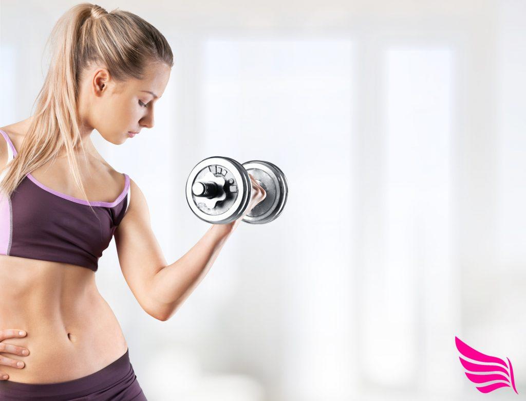 Muskeln an Frauen
